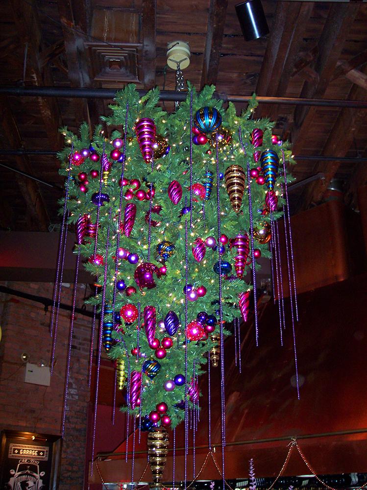 Holiday Tree upside down Garage